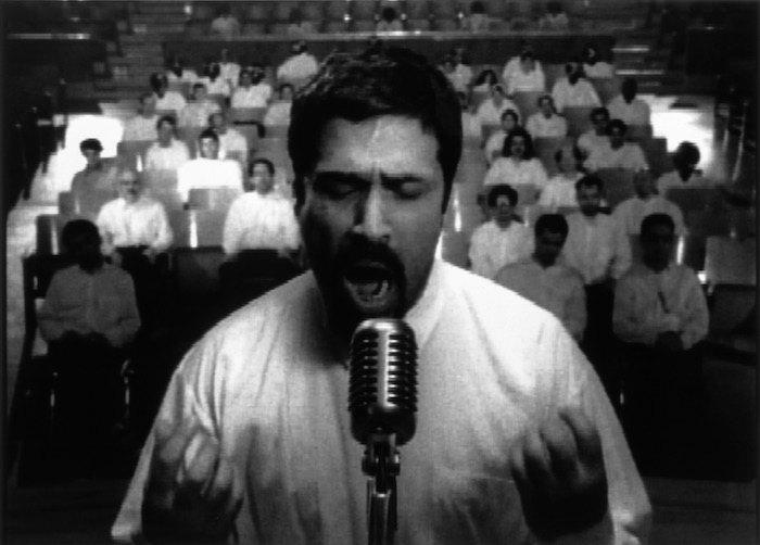 """Кадр из работы """"Турбулентность"""" (1998)"""