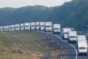 100 российских грузовиков выехали из Подмосковья на Донбасс
