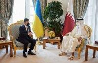 """Зеленський поговорив з еміром Катару про LNG-термінал і """"велике будівництво"""""""