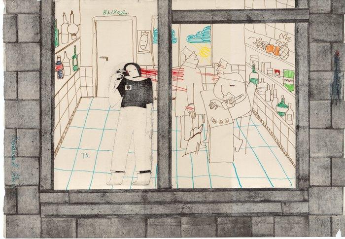 Работа с выставки в Dymchuk Gallery
