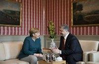 """Порошенко з Меркель: Ми повинні повернути Мінський процес """"у конструктивне русло"""""""