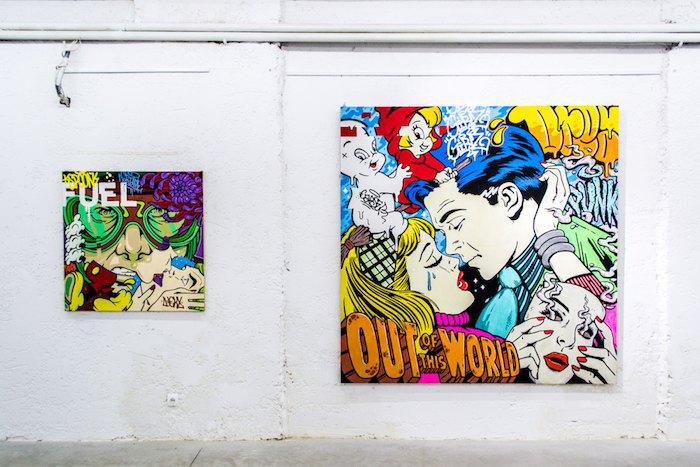 Работы Сергея Якименко на выставке в «Unlimited Art Foundation», 2017