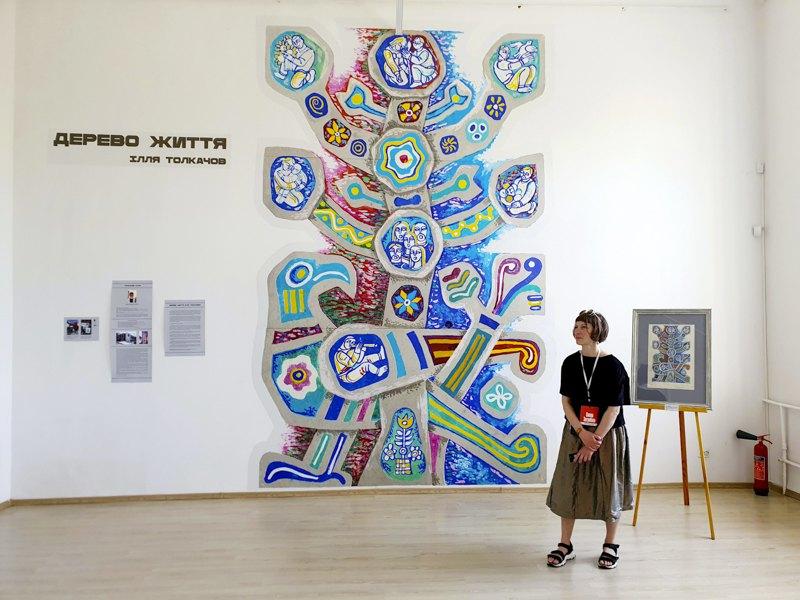 Організаторка фестивалю Олена Загребіна в залі 'Дерево життя'