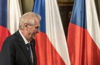 На виборах у Чехії переміг чинний проросійський президент Земан