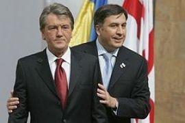 Ющенко и Саакашвили открыли новое здание посольства Грузии