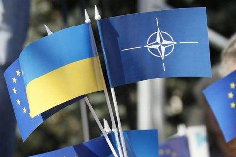 64% украинцев поддержали бы на референдуме вступление в ЕС, 54% - в НАТО