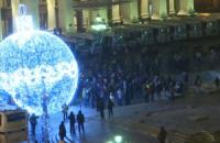 """Мітингувальники в Москві повернулися на Манежну площу і зайняли """"ялинкову кулю"""""""