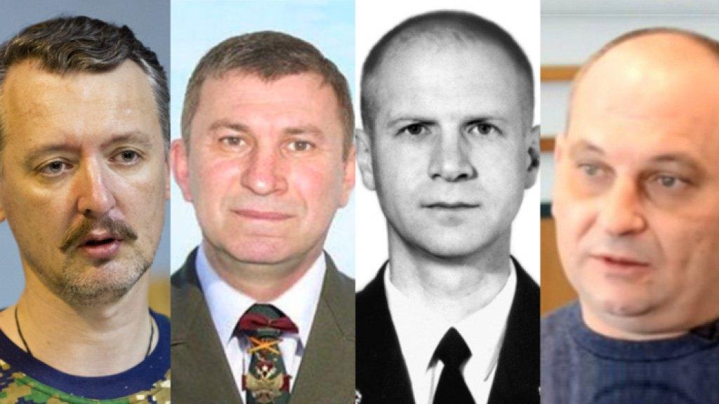 Слева-направо: Игорь Гиркин (Стрелков), Сергей Дубинский, Олег Пулатов и Леонид Харченко
