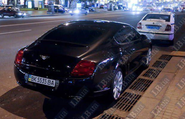 Машина, на которой приехал Арутюнов