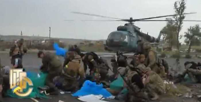 Эвакуация раненых из Изюмского госпиталя