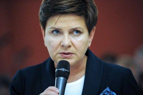 Премьер Польши выступила против снятия санкций с РФ до полного выполнения Минских соглашений