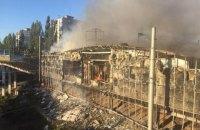 """На київській Борщагівці загорілися кіоски на ринку """"Колібріс"""""""