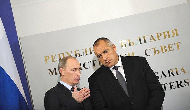 Премьер-министр России Владимир Путин и премьер-министр Болгарии Бойко Борисов, София, Болгария 13 ноября 2010 года.