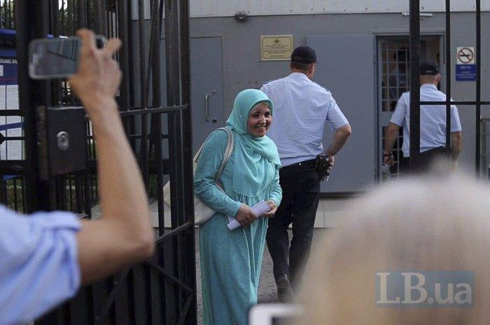 Лютфие Зудиеву отпустили из центра противодействия экстремизму в Симферополе