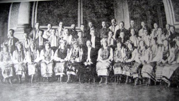 Український Національний Хор в залі театру Буенос-Айреса, 1923р
