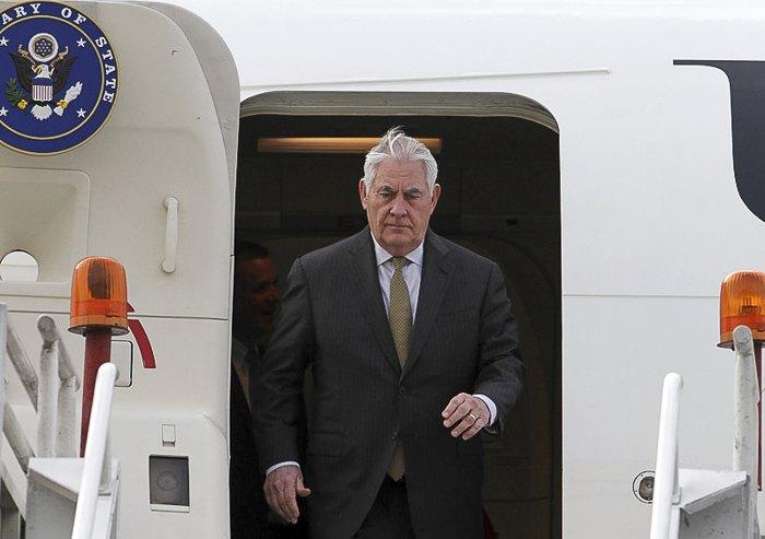 Тиллерсон во время визита в Мексику, 2 февраля 2018