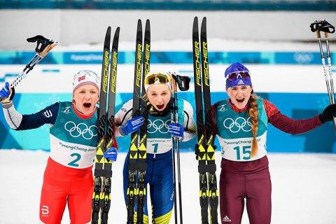 """Норвежец Клебо и шведка Нильссон выиграли """"золото"""" Олимпиады в лыжном спринте"""