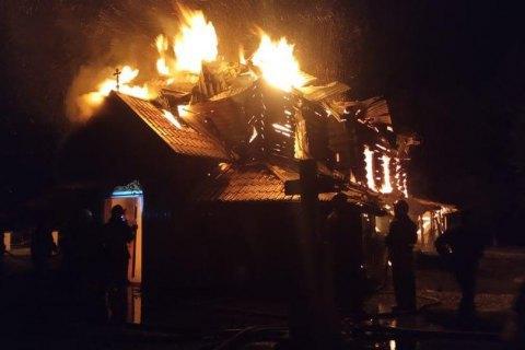 В Ивано-Франковской области горела деревянная церковь XIX века