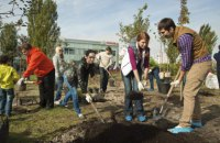 Цього року Київ планує висадити понад 100 тис. зелених насаджень
