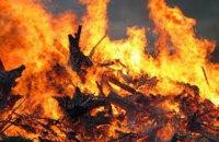 На Рождество в Украине случилось 105 пожаров, в которых погибли 5 человек