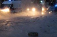 На Караваевых дачах в Киеве прорвало теплотрассу