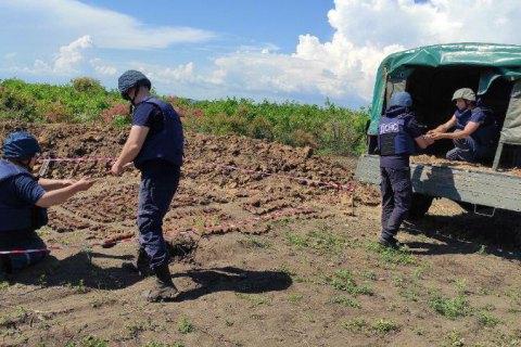 На окраине Бердянска нашли 749 боеприпасов времен Второй мировой