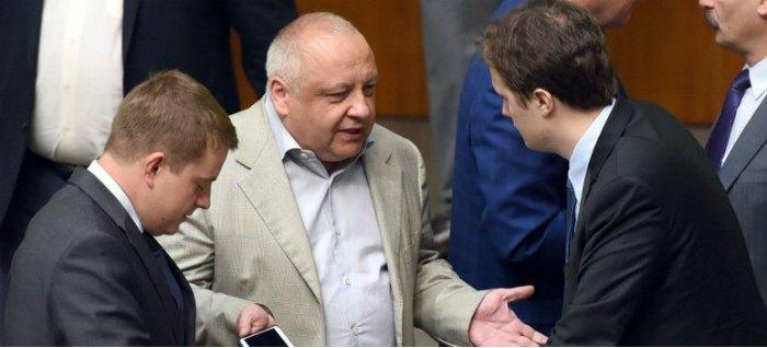 Игорь Грынив и сын Президента, нардеп Алексей Порошенко (справа)