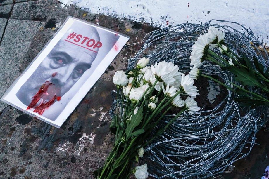 Акція на підтримку білоруського протесту у Берліні
