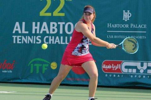 Українка Снігур сенсаційно вийшла у фінал турніру ITF в Дубаї
