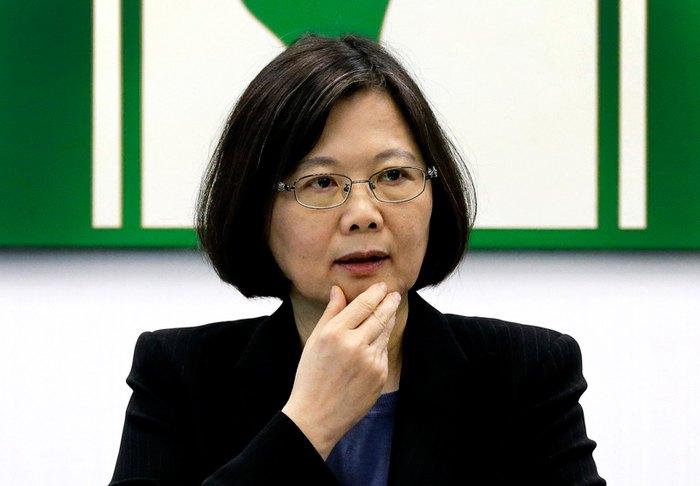 Лидер Тайваня Цай Инвень