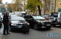 ДТП возле Майдана заблокировало движение троллейбусов