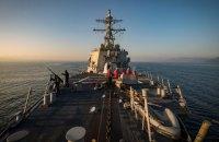 Американский ракетный эсминец направляется в Одессу