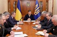 Янукович встретился в Межигорье с новоназначенными силовиками