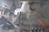 В Одессе сгорела станция техобслуживания