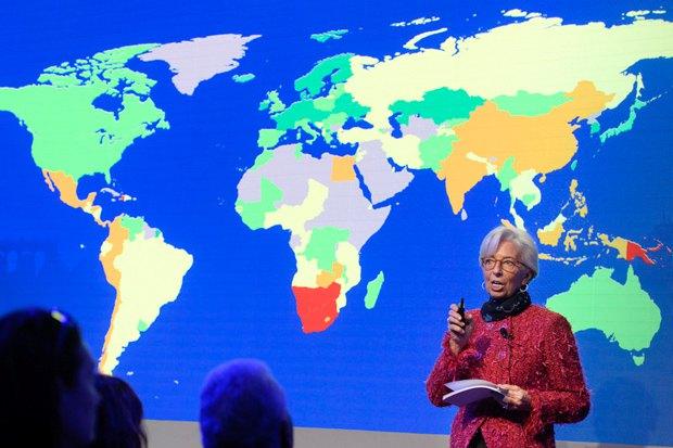 Глава МВФ Кристин Лагард на заседании ВЭФ, Давос, 24 января 2018.