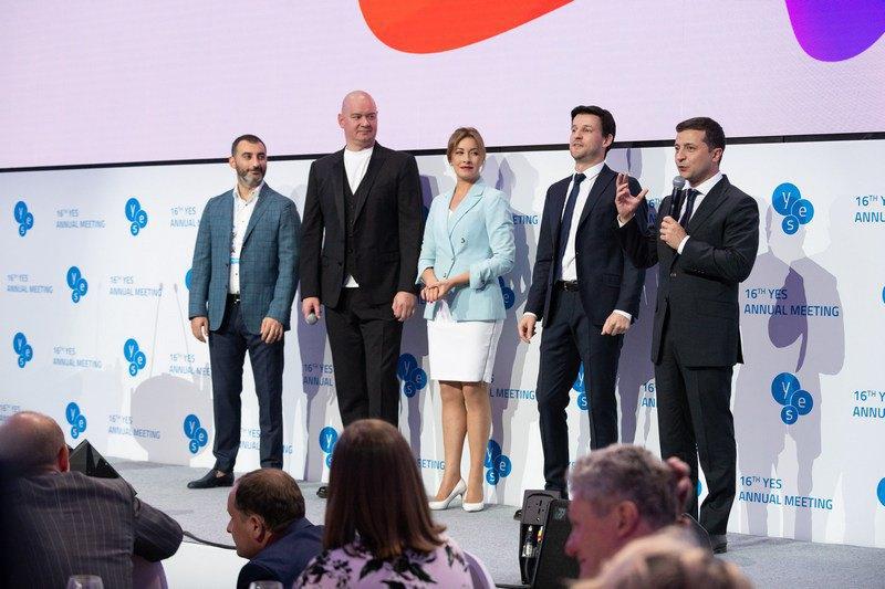 Мика Фаталов, Евгений Кошевой, Елена Кравец, Юрий Велики и Владимир Зеленский