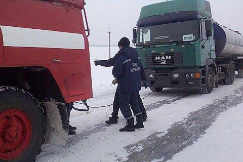 В Ровенской области ограничили движение транспорта из-за погодных условий