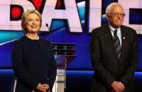 Сандерс голосуватиме за Клінтон на президентських виборах у США