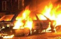 В Ужгороде подожгли авто главного гаишника