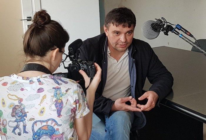 Під час запису інтерв'ю для спецпроекту Шорт-ліст
