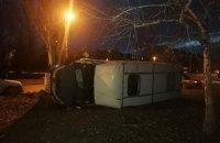 В Донецкой области перевернулась маршрутка с пассажирами, у водителя случился инфаркт