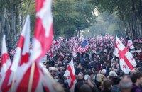 У центрі Тбілісі на підтримку Саакашвілі зібрався кількатисячний мітинг