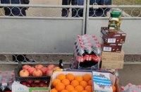 Переселенцы из Донецка привезли продукты под санаторий в Новых Санжарах