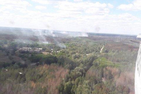 Пожежу в Чорнобилі локалізували на площі 1,5 га