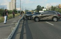 ДТП: водитель Porsche Cayenne на полном ходу решил развернуть автомобиль и врезался в Hyundai