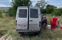 На Луганщині автобус з'їхав з дороги, п'ятеро пасажирів госпіталізовані