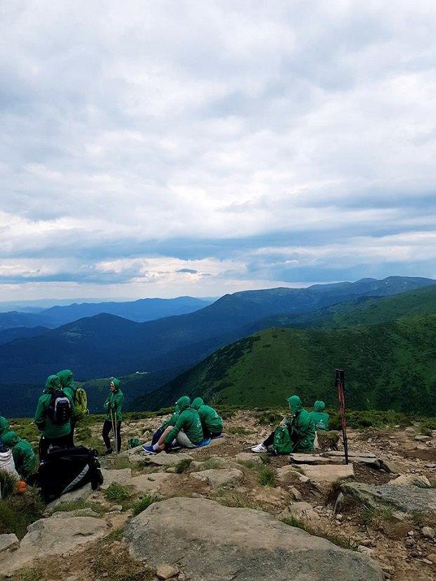 Учасники проекту «ДіаГоверла» на вершин