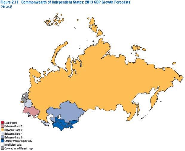 Рост ВВП Украины будет самым низким в СНГ