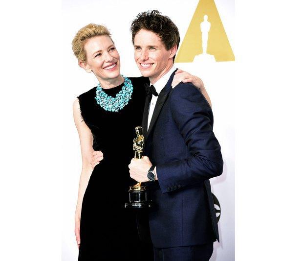 """Кейт Бланшетт и Эдди Рэдмейн, получивший """"Оскар"""" за роль Стивена Хокинга в """"Теории всего"""""""