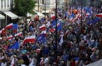 В Варшаве на акцию протеста вышли 200 тысяч человек